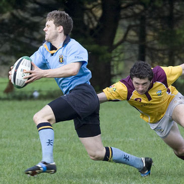 UCD's Andy Cummiskey on the attack against Bruff