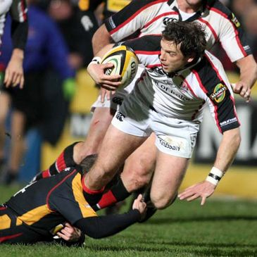 Bryn Cunningham leads an Ulster attack against the Dragons