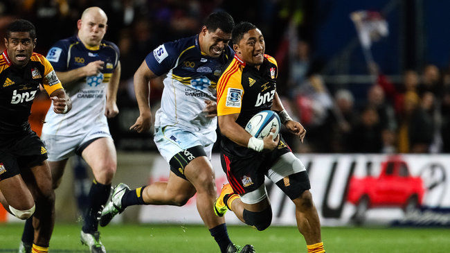 Bundee Aki in action for the Chiefs