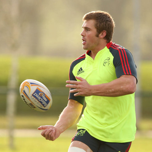 South African CJ Stander training with the Munster squad