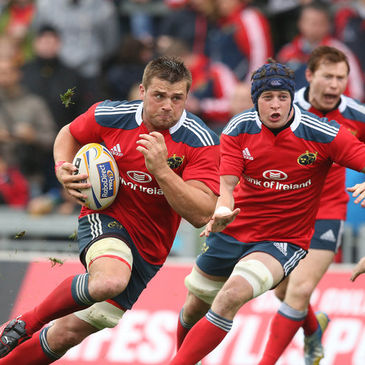 CJ Stander on the charge for Munster
