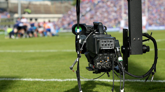 A camera covering last year's PRO12 final in Dublin