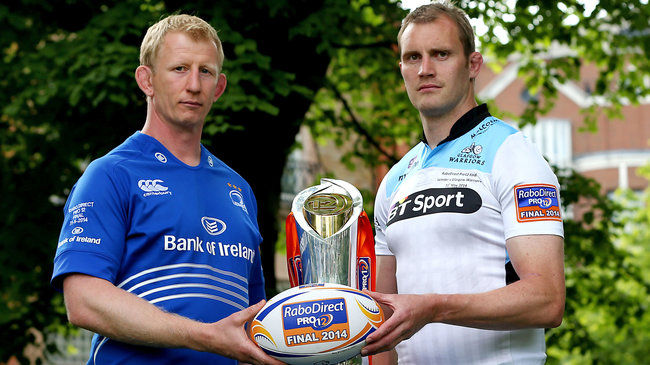 Team captains Leo Cullen and Al Kellock