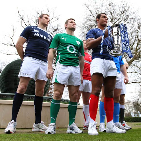 The 2011 RBS 6 Nations captains