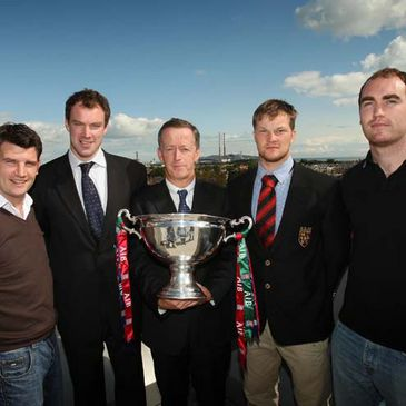 Maurice Crowley of AIB and some of the club captains