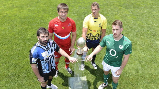 Dominic Ryan with the other captains