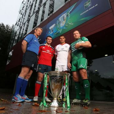 The provincial captains at the Heineken Cup launch