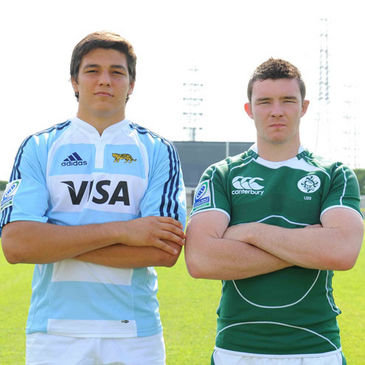 Ireland captain Peter O'Mahony is pictured with Argentina skipper Santiago Guzman