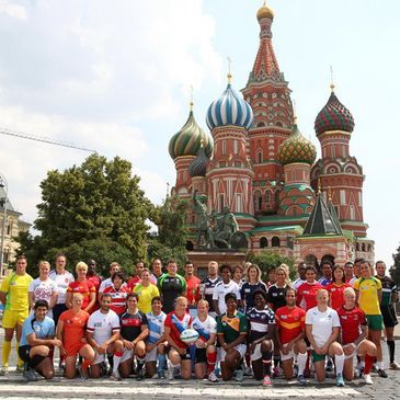 The men's and women's captains in Moscow