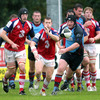 The wet conditions impacted on the game but busy scrum half Cathal Sheridan was a key figure in UL Bohs' revival