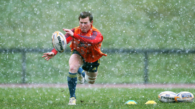 Cathal Sheridan training in wintry conditions in Limerick