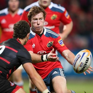 Munster scrum half Cathal Sheridan