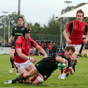 Cathal Sheridan scored a try for Munster 'A' against Ulster Ravens