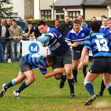 Action from the Cawley Cup final