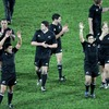 Piri Weepu, New Zealand's captain for the night, celebrates with his team-mates