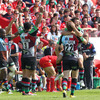 However, 'Quins were able to hold on and record a famous victory at Munster's fortress of Thomond Park