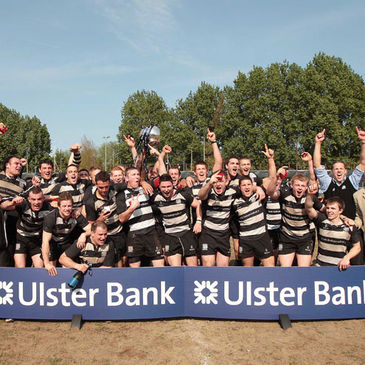 Old Belvedere celerate winning the Ulster Bank League title