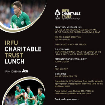 Support the Charitable Trust and help seriously injured players
