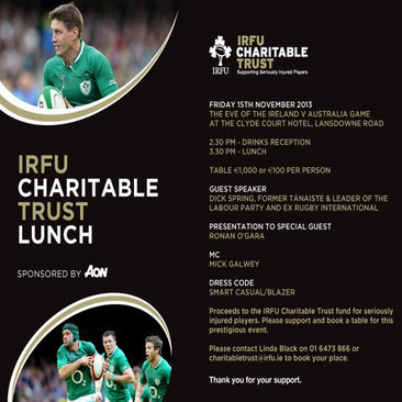 The Charitable Trust Lunch With Ronan O'Gara