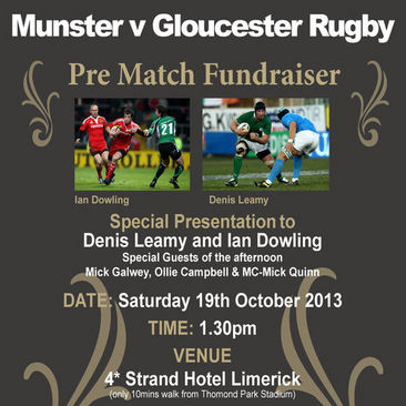 Munster v Gloucester Fundraiser For Charitable Trust
