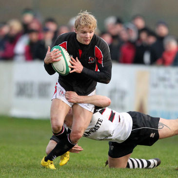 Chris Cochrane in action for the Ulster Ravens
