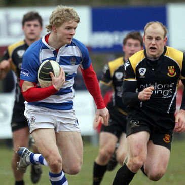 Dungannon's Chris Cochrane in action against Buccaneers