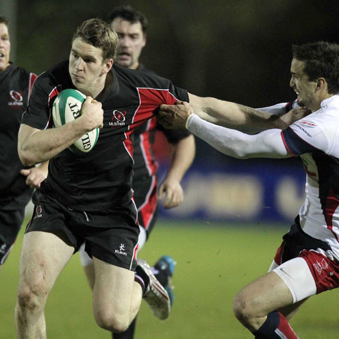 Centre Chris Farrell in action for the Ravens against Doncaster