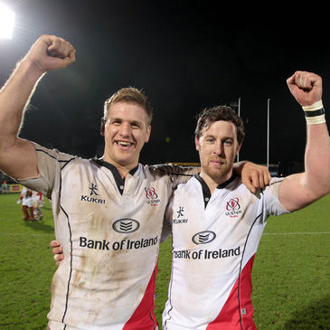 Willie Faloon with former Ulster team-mate Chris Henry