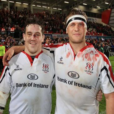 Ulster's Declan Fitzpatrick and Chris Henry