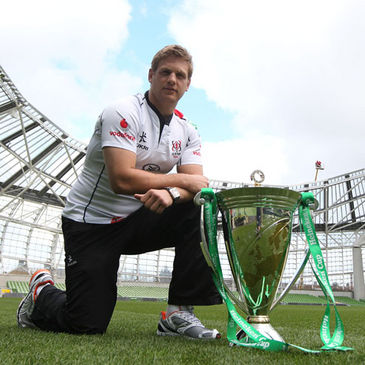 Ulster's Chris Henry with the Heineken Cup