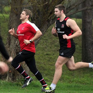 Ulster's Chris Henry and Iain Henderson