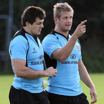 Ulster back rowers Sean Doyle and Chris Henry