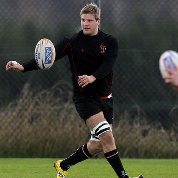 Back rower Chris Henry training with Ulster