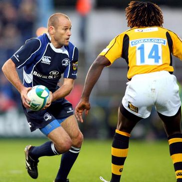 Leinster's Chris Whitaker in action against Wasps