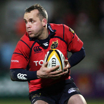 Christian Cullen in Munster red