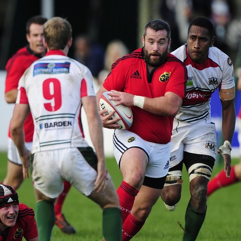Photos of the Munster 'A' team in action against Plymouth Albion