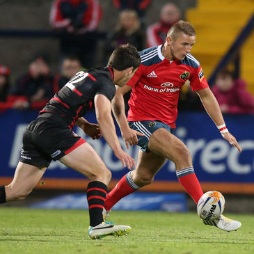 Munster's Cian Bohane in action against Edinburgh