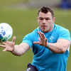 Cian Healy, who is looking forward to a physical encounter with Russia, is the only survivor from the front row that outscrummaged the Wallabies last weekend