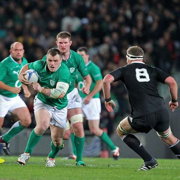 Cian Healy in action against New Zealand
