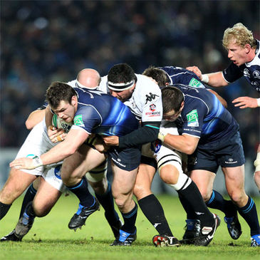 Cian Healy drives forward against Brive