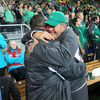 Cian Healy hugs the squad's long-serving baggage master Paddy 'Rala' O'Reilly, who has been part of the Ireland set-up for four Rugby World Cups