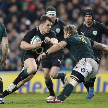 Cian Healy in action against South Africa