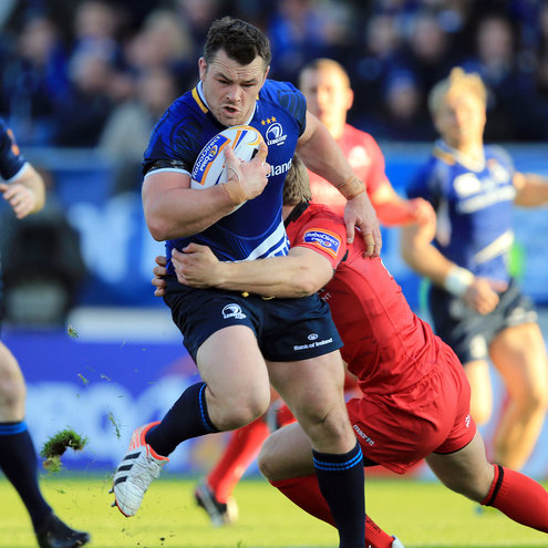 Leinster's Cian Healy in action against Edinburgh