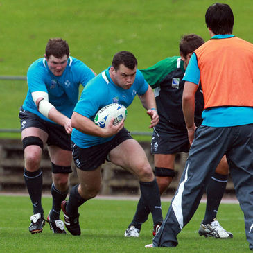 Cian Healy training with the Ireland squad