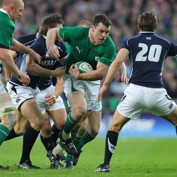 Ireland prop Cian Healy in action against Scotland