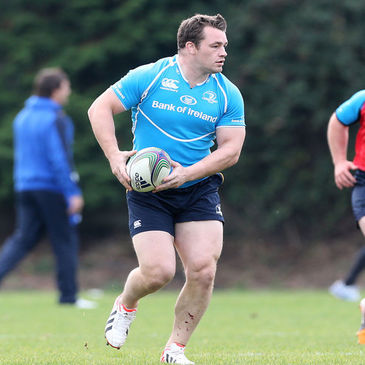 Cian Healy training with the Leinster squad