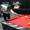 Cian Healy tries his hand at pool at the PUMA venue, which is located in Shed 1 and 2, 101 Halsey Street in the Viaduct Harbour Marine Village