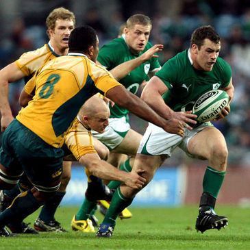 Ireland prop Cian Healy on the charge against Australia