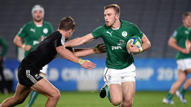 Ciaran Gaffney in action against New Zealand
