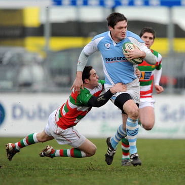 Ciaran O'Boyle tries to break forward for Garryowen